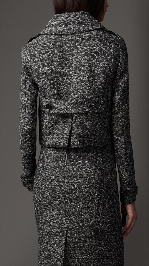 Burberry Textured Wool Blend Jacket