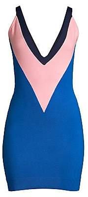 Victor Glemaud Women's Sleeveless Colorblock Wool Dress