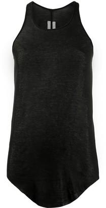 Rick Owens asymmetric hem tank top