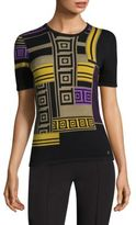 Versace Colorblock Short-Sleeve Shell