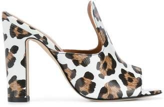 Paris Texas animal print sandals