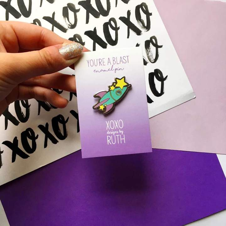 XOXO Designs by Ruth You're A Blast Rocket Pin