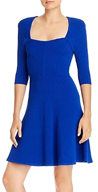 Milly Ribbed Fit and Flare Dress