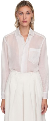 Ralph Lauren Collection Cotton Sheer Shirt