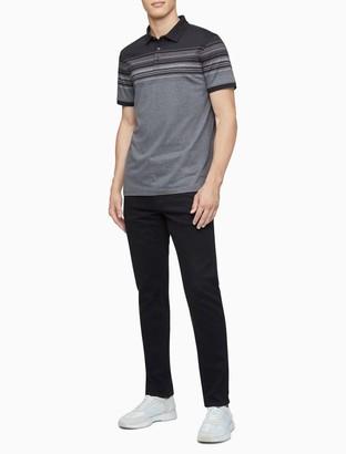 Calvin Klein Liquid Touch Striped Polo Shirt