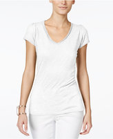 INC International Concepts Petite V-Neck T-Shirt, Only at Macy's