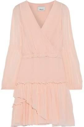 3.1 Phillip Lim Wrap-effect Gathered Silk-chiffon Mini Dress