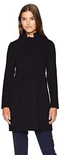 Armani Jeans Women's Felt Wool Mock Collar Coat