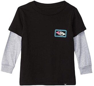 Quiksilver Midnight Show Screen Tee (Toddler/Little Kids) (Black) Boy's Clothing