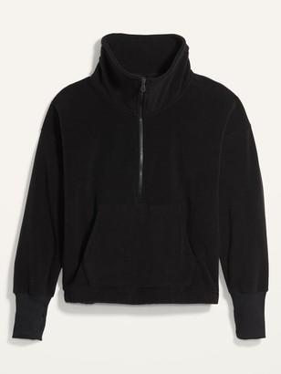 Old Navy Loose Quarter-Zip Micro Performance Fleece Plus-Size Sweatshirt