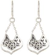 Lois Hill Sterling Silver Bulb Drop Chain Earrings