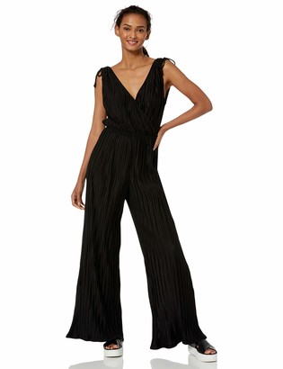 Cupcakes And Cashmere Women's Ibiza Pleated Cross Front Jumpsuit