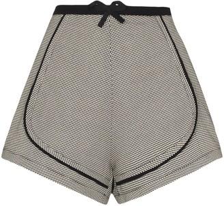 Coperni Checked Cotton Shorts