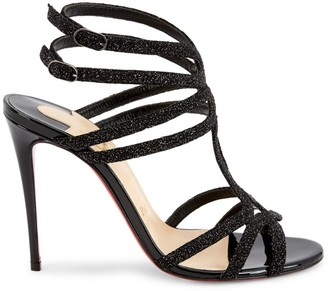 Christian Louboutin Renee Glitter Leather Sandals