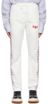 Wheir Bobson White Denim Side Line Track Pants