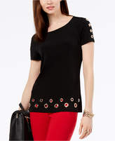 INC International Concepts I.n.c. Short-Sleeve Grommet-Embellished T-Shirt, Created for Macy's