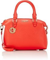 Versace WOMEN'S DOUBLE-HANDLE SATCHEL-RED