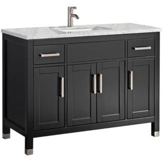 "Brayden Studio Denault 48"" Single Bathroom Vanity Set Brayden Studio Base Finish: Espresso"