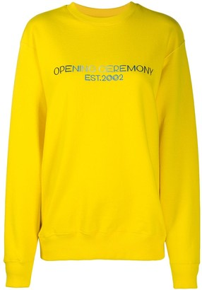 Opening Ceremony Embroidered Text Logo Sweatshirt