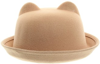 La Vogue Women Cloche Hat Roll Up Brim Bowler Derby Hat (Camel)