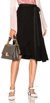 J.W.Anderson Drape Wool Asymmetric Skirt in Black.