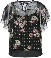 RED Valentino sheer floral blouse