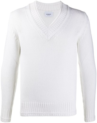 Dondup ribbed V-neck jumper