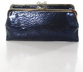 Anya Hindmarch Blue Patent Leather Clasp Closure 7 Pocket Clutch