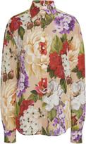 Dolce & Gabbana Floral-Print Silk Shirt