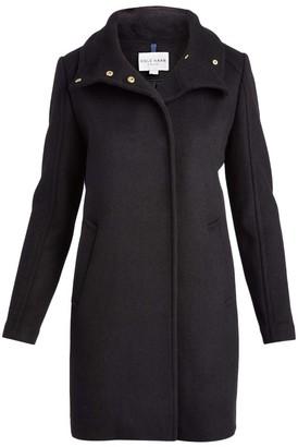 Cole Haan Women's Car Coats Black - Black Snap Wool-Blend Car Coat - Women