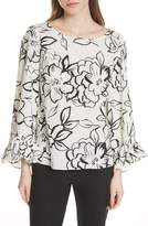 Tracy Reese Flounced Floral Top