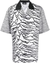 Pleasures geometric print short-sleeve shirt