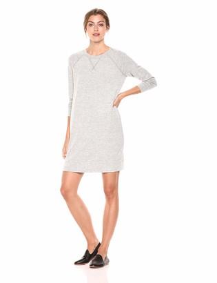 Daily Ritual Women's Cozy Knit Raglan Sweatshirt Dress