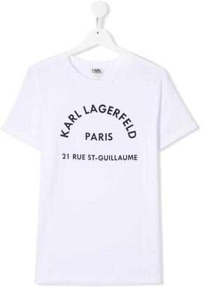 Karl Lagerfeld Paris TEEN logo-print T-shirt