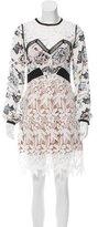 Self-Portrait Floral Lace-Accented Dress w/ Tags