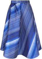 Vika Gazinskaya Blue Satin Brushstroke Bell Skirt