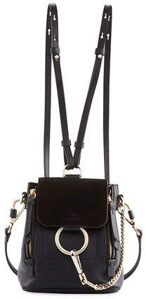 Chloé Faye Mini Leather/Suede Backpack