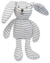 Elegant Baby Striped Plush Bunny in Grey