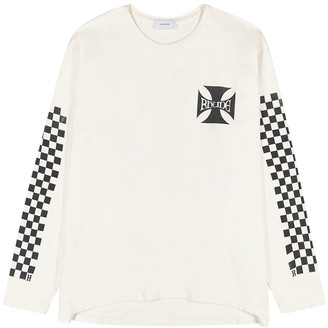 Rhude Checkers printed cotton top