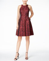 Calvin Klein Petite Printed Fit & Flare Dress