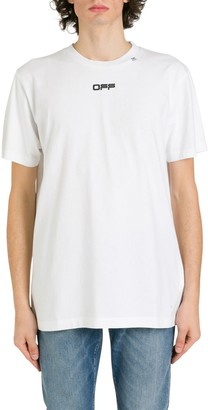 Off-White Wavy Line Logo Printed T-shirt