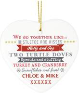 Very Personalised 'We go Together...' Ceramic Heart