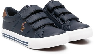 Ralph Lauren Kids Logo Touch-Strap Sneakers