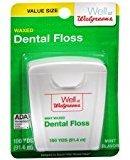 Walgreens Waxed Dental Floss Mint 100.0 yd(Pack of 3)