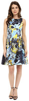 Maggy London Paint Brush Blossom Cotton Fit and Flare