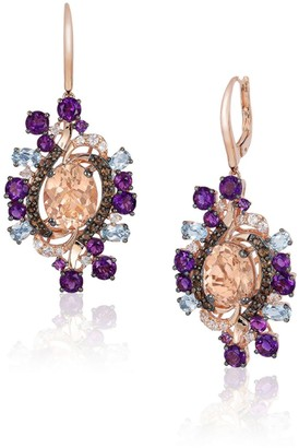 LeVian Crazy Semi-Precious, Multi-Stone and 14K Strawberry Gold Drop Earrings