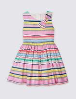 Marks and Spencer Striped Bow Dress (3 Months - 7 Years)