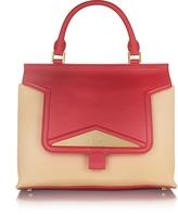 Vionnet Mosaic 30 Colorblock Leather & Black Ayers Medium Satchel Bag w/Shoulder Strap
