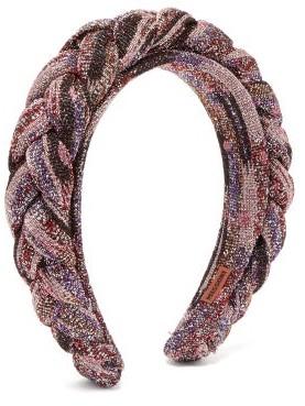 Missoni Braided Metallic-knit Headband - Pink