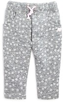 3 Pommes Infant Girls' Flower Print Knit Jog Pants - Sizes 3-24 Months